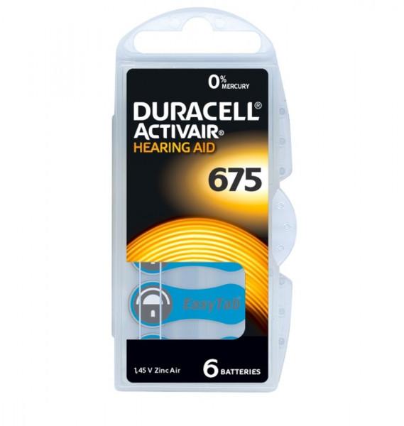 Duracell Activair Hörgerätebatterien Größe 675