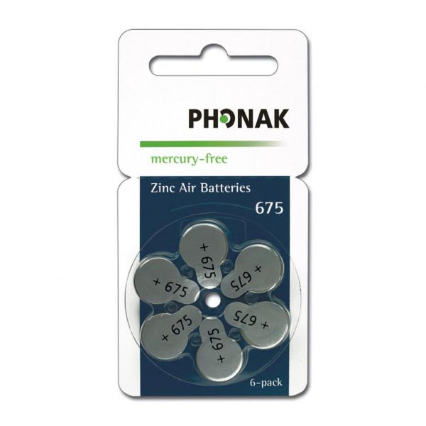 Hörgerätebatterien Größe 675 von Phonak