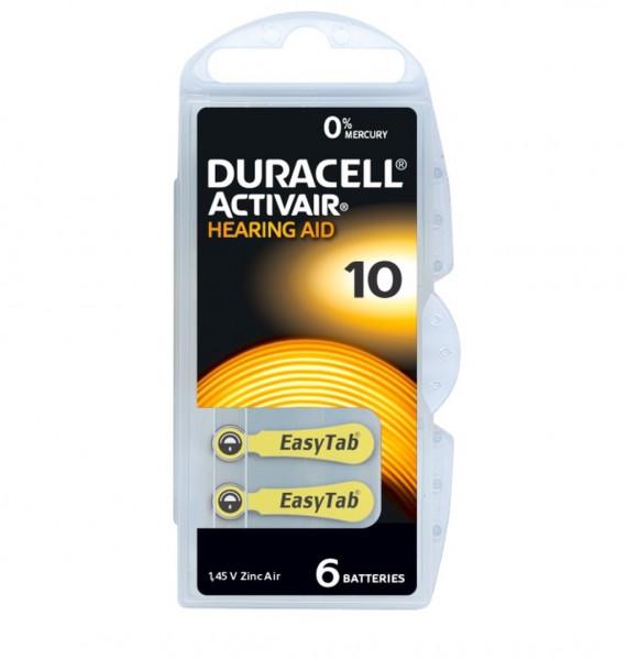 Duracell Activair Hörgerätebatterien Größe 10