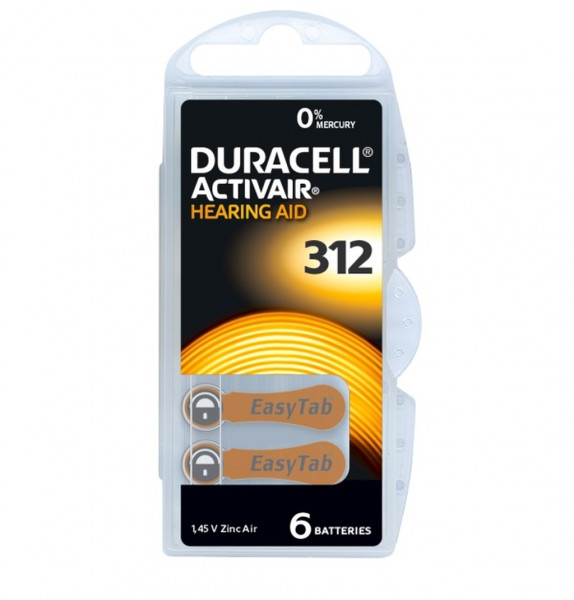 Duracell Activair Hörgerätebatterien Größe 312